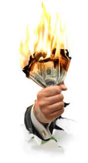 queimar dinheiro