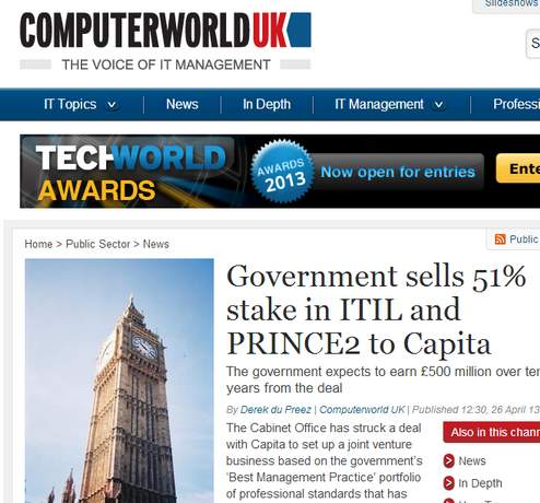 government sell itil