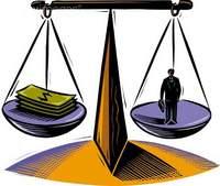 balança salário trabalho